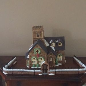 "Dept 56 Dickens ""Knottinghill Church"" & fences"
